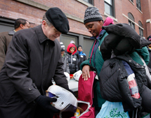 Archbishop Cupich out among the people