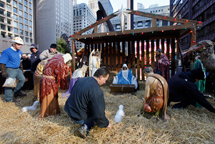 Blessing of the crèche at Daley Plaza