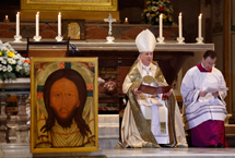 Cardinal Cupich holds vespers at titular church